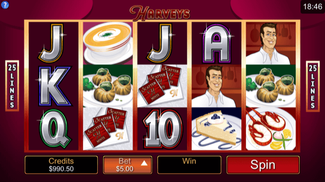 Harvey's by Microgaming Slot